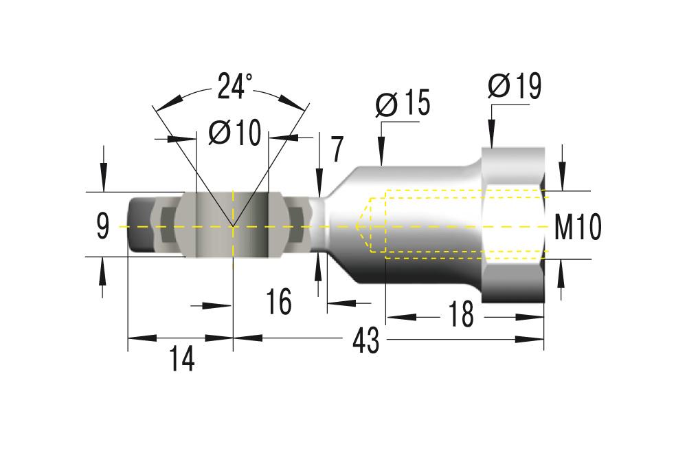 Gelenkkopf M10x1,5 ***maximale Belastung 10000N***
