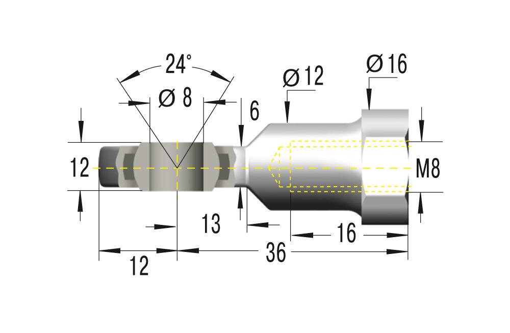 Gelenkkopf M8 in Edelstahl V2A