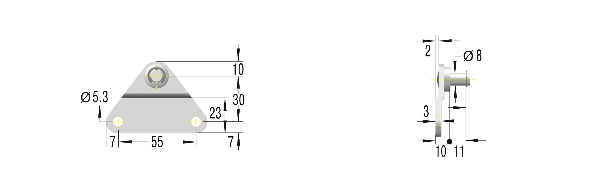 Beschlag fürGS-19,22 GZ19,HB ***maximale Belastung 1200N***