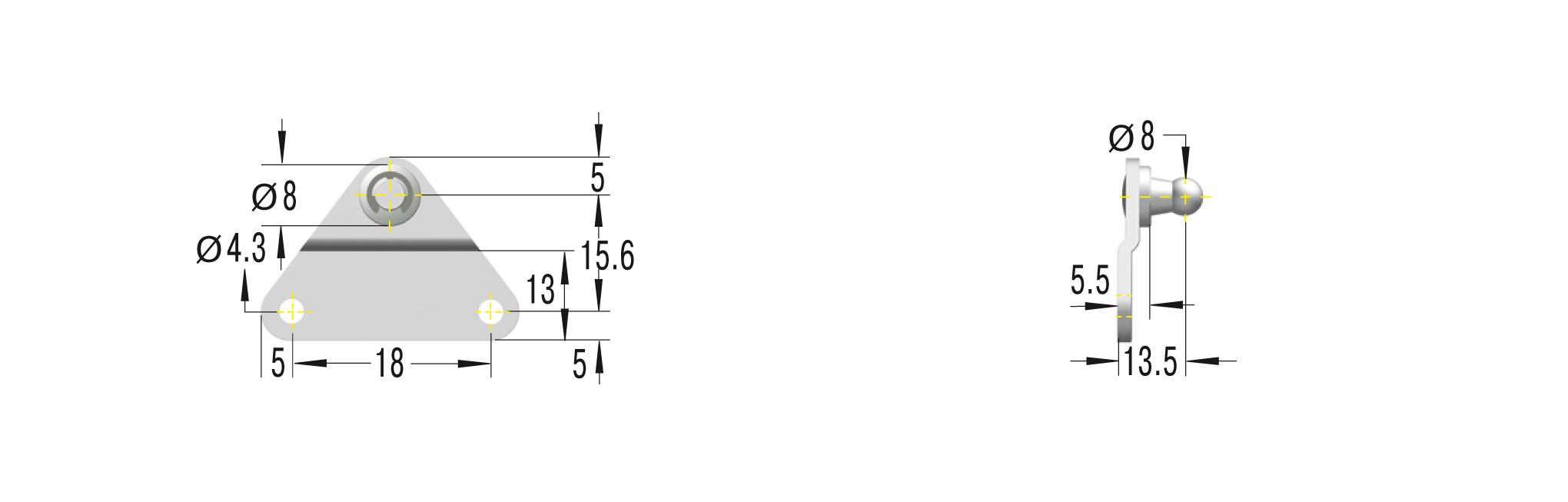 Beschlag für GS-15 und HB-15 ***maximale Belastung 180N***