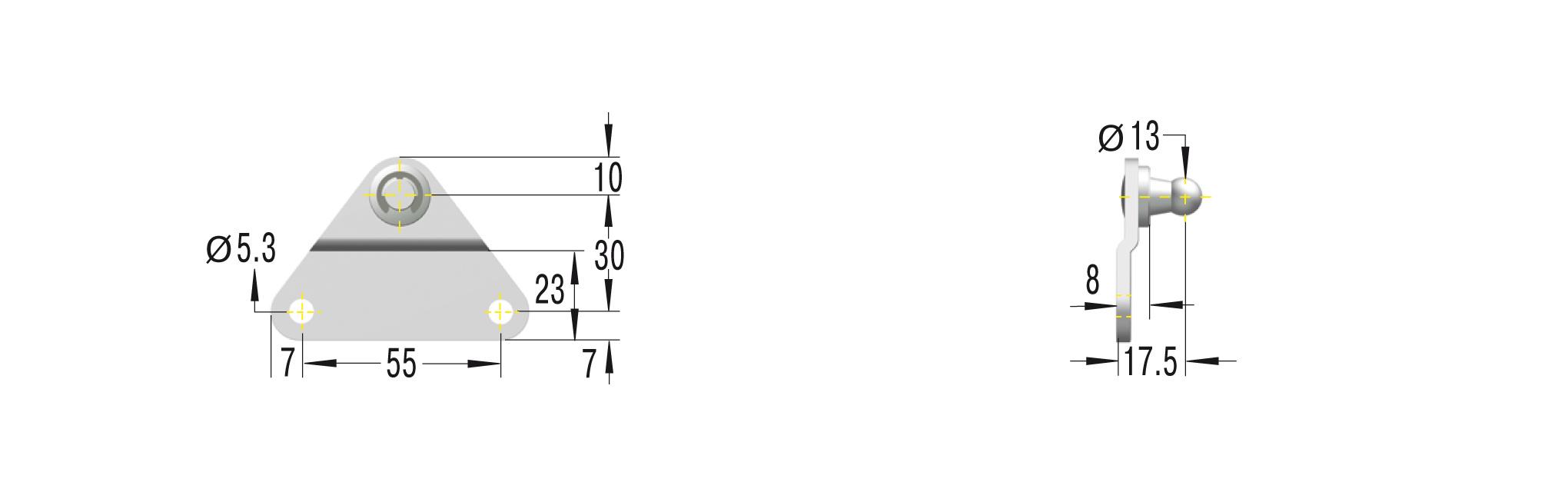 Beschlag für GS/GZ Edelstahl ***maximale Belastung 1200N***