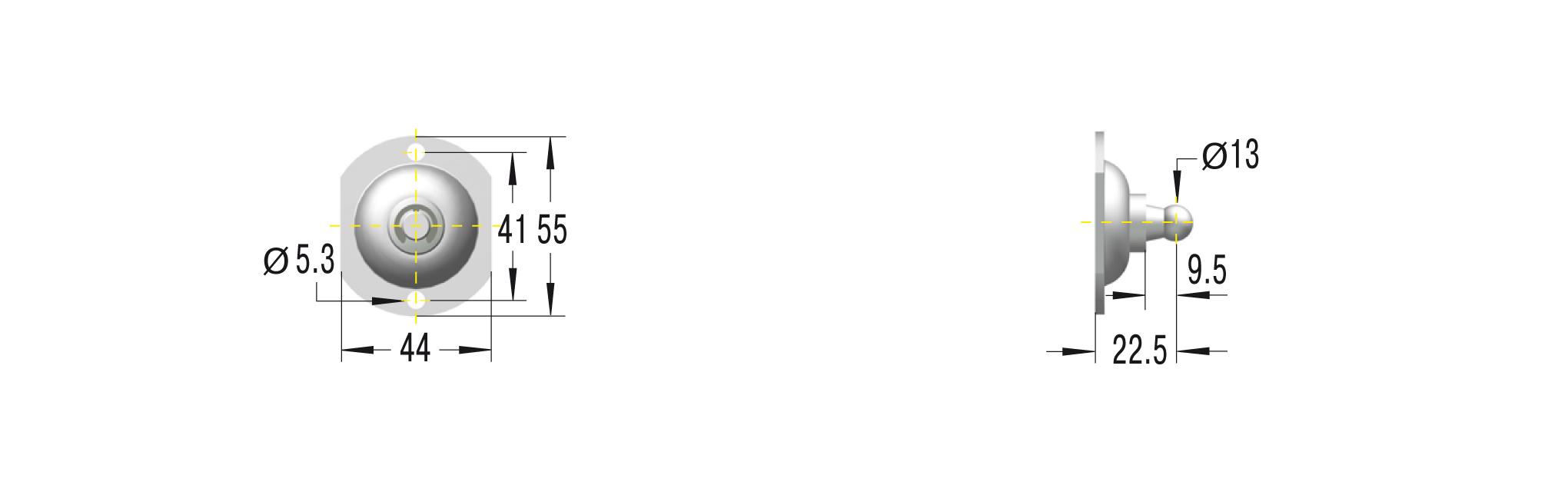 Beschlag für GS/GZ in Edelstahl V4A ***maximale Belastung 1200N***