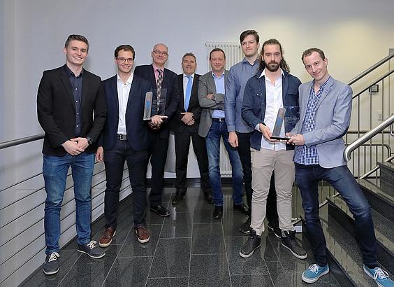 De winnende studententeams uit Bochum en Venlo: